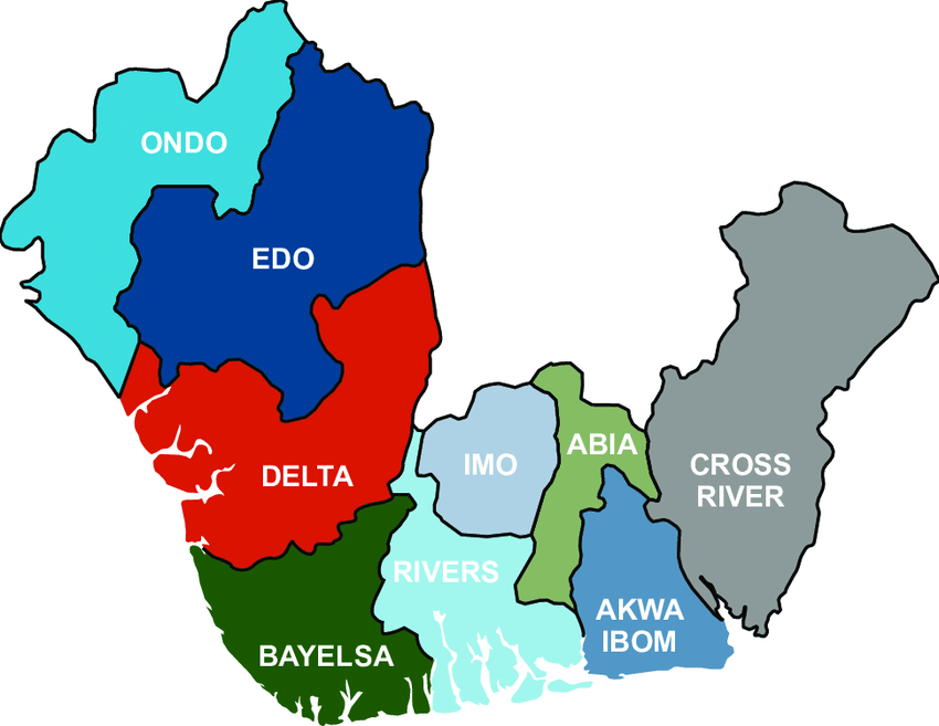 Maps-showing-Niger-Delta-States