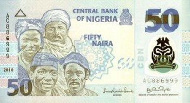 picture of naira notes