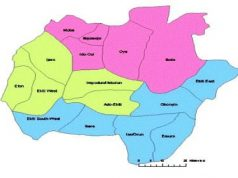 map of Ekiti state