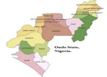 map of ondo state