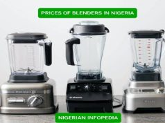 prices of blenders in Nigeria