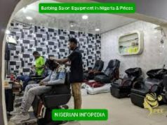 Barbing Salon Equipment in Nigeria & prices