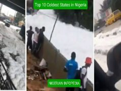 coldest states in Nigeria