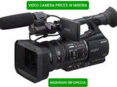 video camera prices in Nigeria