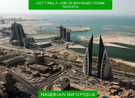 getting job in Bahrain from Nigeria