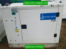 Jubaili Bros Generators in Nigeria