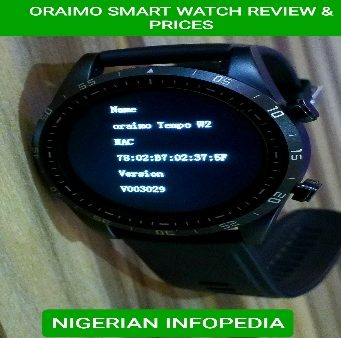 oraimo smart watch prices